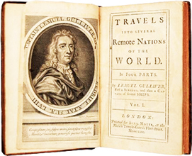 Travels into several remote nations of the world. In Four Parts. By Lemuel Gulliver, First Surgeon and then a Captain of Several Ships.