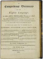 A compendious dictionary of the English language - Noah Webster